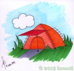 Tent Field by isnani
