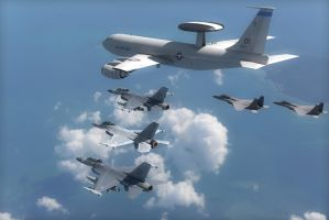 AWACS escort by hg-Jake-almighty