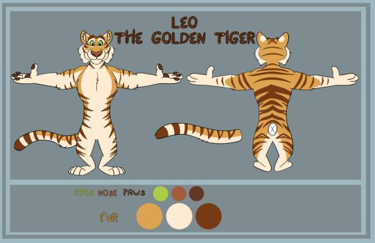 Leo The Tiger Ref Sheet Commission by shadythebluewolf