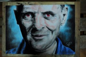 Anthony Hopkins in the role of Dr. Lecter by Szetyi