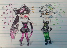 Squid Sister Challenge!!! by cyandreamer