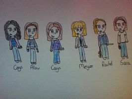 Chibi me and my best friends by CardiGirl28