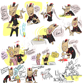 A bunch of Underfell and Undertale Burgerpants-- by KnockPainter