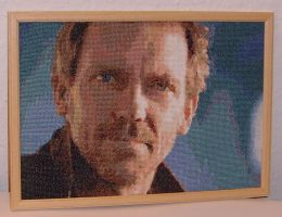 Hugh Laurie cross stitch by hilsonlover