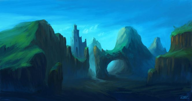 Tower in the mountains by vennom07
