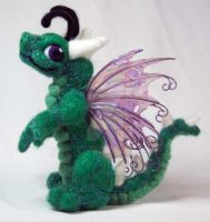 Green Fairy Dragon Plush by The-GoblinQueen