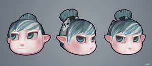 Cartoon Dummy Head by wangqr
