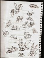 Some Eevee Doodles by hlavco