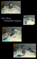 Blue Falcon Gryphon by SilverGryphon8