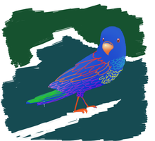 Colorful birdy by Cobean