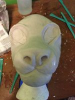 A Lion face I sculpted to make a mold for a mask. by NerdKiwiOfficial