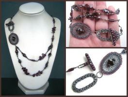 garnet necklace by annie-jewelry