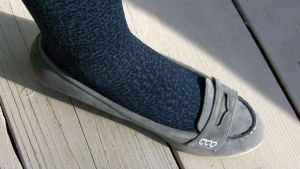 Jane's New Gray Suede Penny Loafer by peerlesspenny