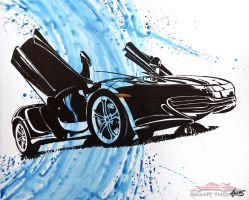 Blue McLaren MP4-12C by ferrariartist