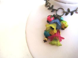 Secret Garden Cluster Necklace by RoyalKitness
