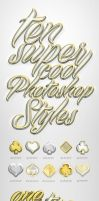 Gold and Silver Shiny Layer Styles by Devotchkah