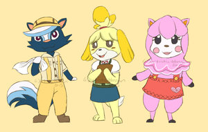 ACNL- Kicks Isabelle Reese by artistic-blossom