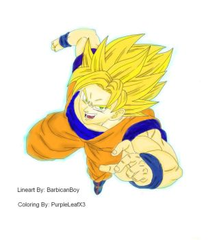 Coloring request - Goku\Dragon Ball by PurpleLeafX3