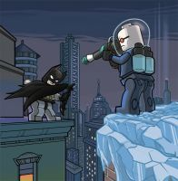 Lego Batman vs Mr. Freeze by ActionMissiles
