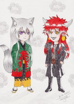 KH: Tomoe and Akura-ou by magoleth