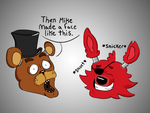 Freddy and Foxy Converse by RampantlyVague
