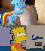Bart Simpson reaction My Little Dashie. by brandonale