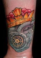 Machine heart by redliontattoo