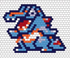Pokemon totodile peyote beading pattern by dragonariaes