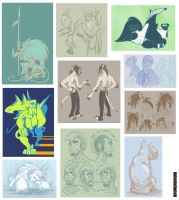misc. originals sketchdump by unbadger