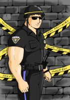 beware the muscular cop by Xiul24