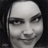 water color amy lee portrait by sahabiha