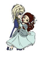 Jareth and Sarah (Labyrinth) - In Colour by GothForHappyPeople