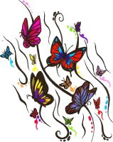 Butterfly Design of Awesome by ajbluesox
