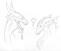 Dragon Love by Kaashtian