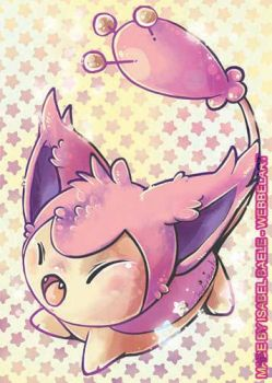 Skitty pokemon fanart aceo by tikopets