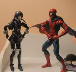 Lucina and Spider-Man - Wearing my cape huh by kongzillarex619