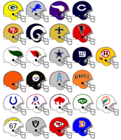 NFL Team Helmets 1970 by Chenglor55
