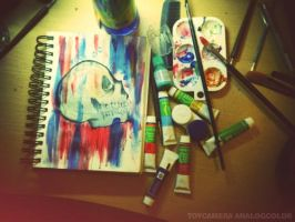 another mess another skull by dearadrianne