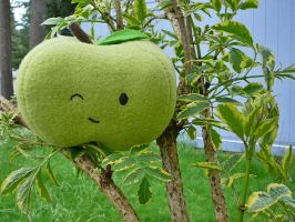Green Apple Plushie by stefania-zee