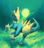 Manectric used Sunny Day