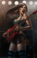 The Queen of Shred Guitar by JophielS
