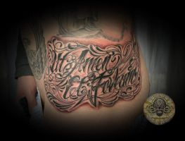 chicano script latin Tattoo by 2Face-Tattoo