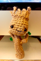 Guardians of the Galaxy Wee Lil Groot Amigurumi by Spudsstitches