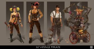 W3 character design Final Steampunk by Milkmom