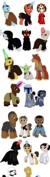 Star Wars Ponies complete collection by Qemma