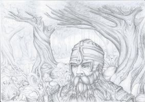 Dwarf in the woods by JOVictory