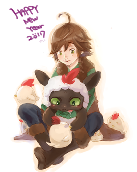 happy new year by hiraco