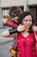 Donna Troy and Roy Harper by Thekidisacat