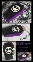 Skellington phone case by DarkDollArt