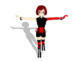 MMD WIP Punk outfit by khftw